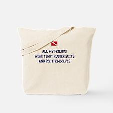 Peeing Scuba Diver Tote Bag