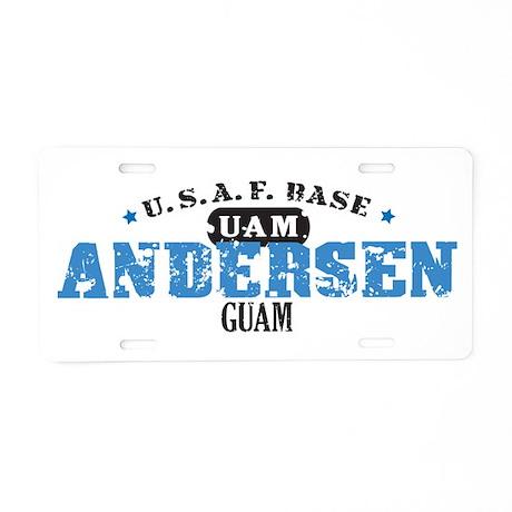 Andersen Air Force Base Aluminum License Plate