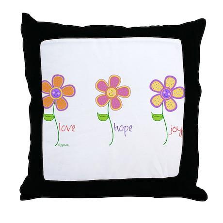 Inspiring Daisies Throw Pillow