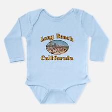 Vintage Long Beach Long Sleeve Infant Bodysuit