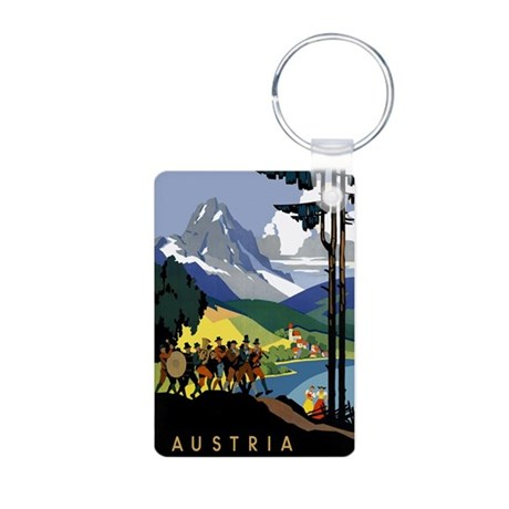Austria Band Travel Aluminum Photo Keychain