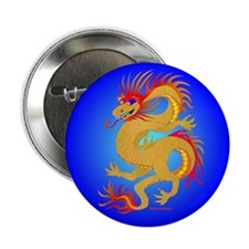 "Golden Dragon 2.25"" Button (100 pack)"
