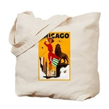 Vintage Chicago Travel Tote Bag