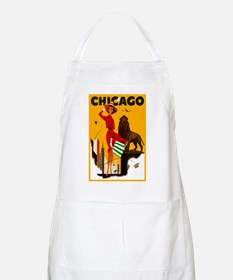 Vintage Chicago Travel Apron