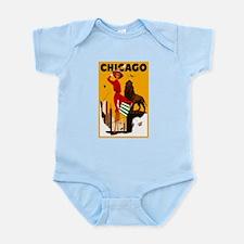 Vintage Chicago Travel Infant Bodysuit