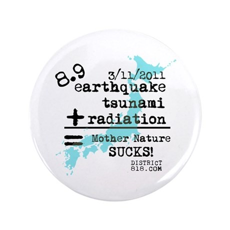 "JAPAN EARTHQUAKE RELIEF 3.5"" Button"