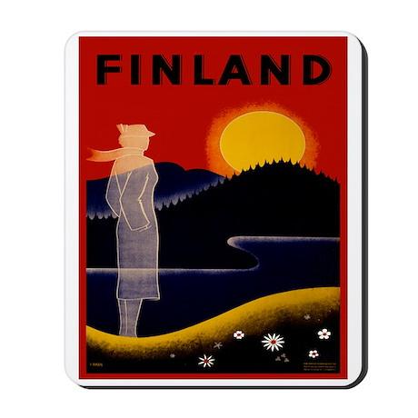 Vintage Finland Travel Mousepad