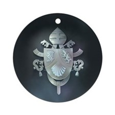 Silver Benedict Coat of Arms : Ornament (Round)