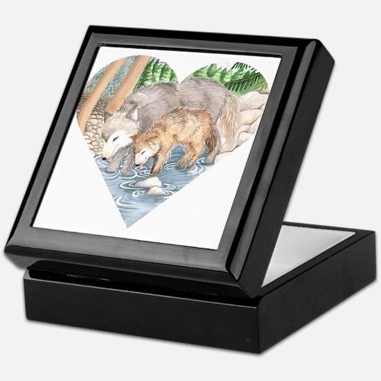 wolves at creek Keepsake Box