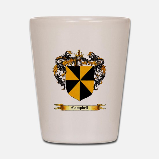 Campbell Coat of Arms Shield Shot Glass