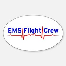 EMS Flight Crew - (same image front & back) Sticke