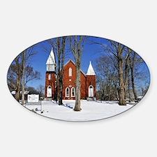Methodist Church Sticker (Oval)