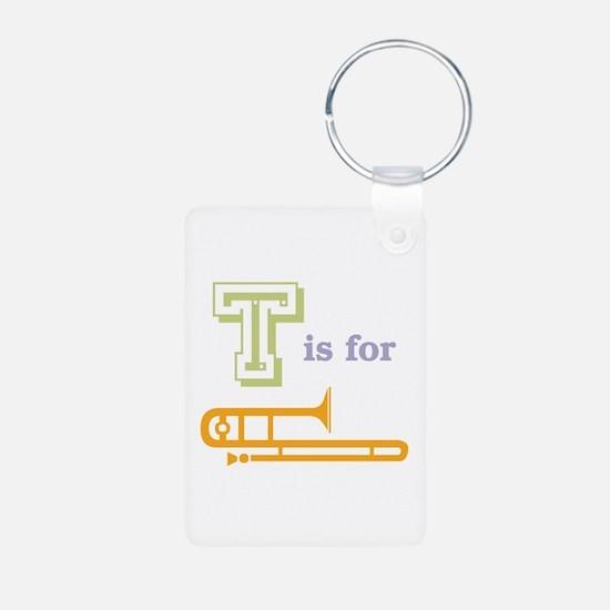 Tis for Trombone Aluminum Photo Keychain