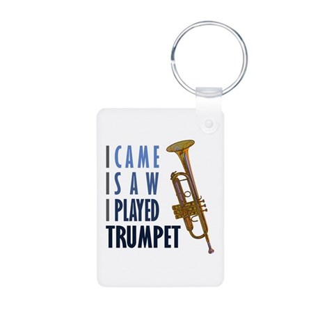 I Played Trumpet Aluminum Photo Keychain