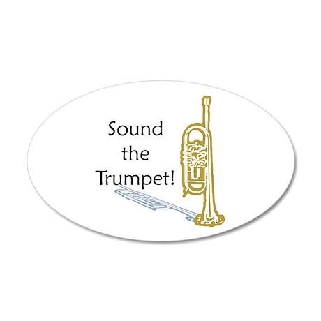 Trumpet 22x14 Oval Wall Peel