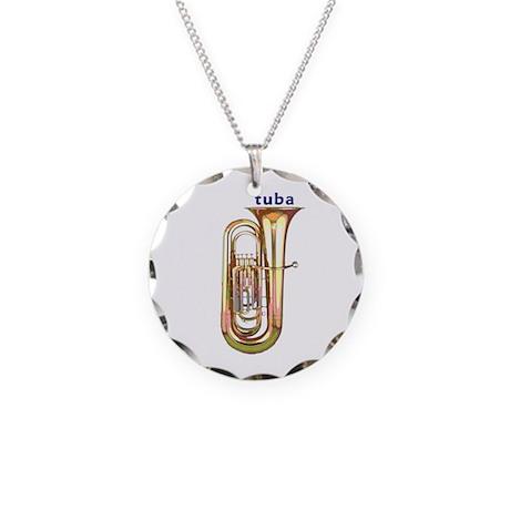 Tuba Necklace Circle Charm
