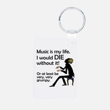Music Is My Life Keychains