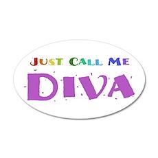 Diva 22x14 Oval Wall Peel