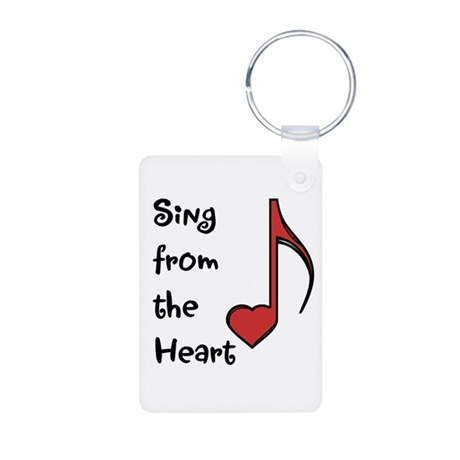 Sing from the Heart Aluminum Photo Keychain