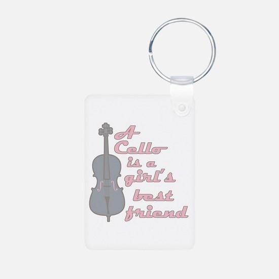 I Love My Viola Keychains