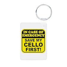 Save My Cello Aluminum Photo Keychain