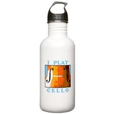 I Play Cello Water Bottle