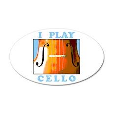 I Play Cello 22x14 Oval Wall Peel