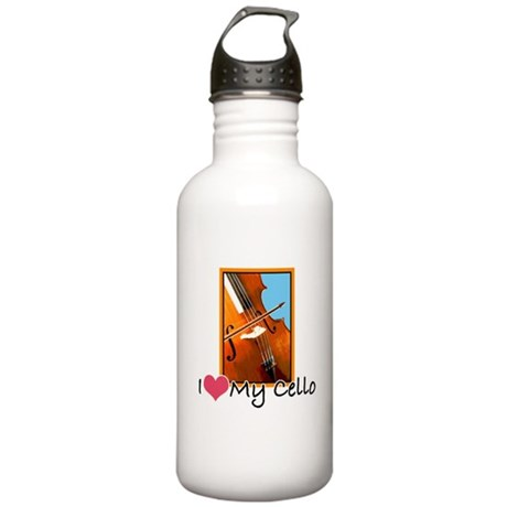 I Heart My Cello Stainless Water Bottle 1.0L