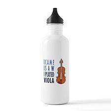 I Play Viola Water Bottle