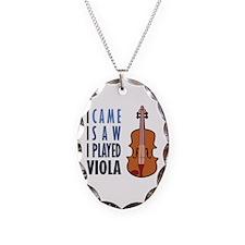 I Play Viola Necklace Oval Charm