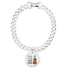 I Play Viola Charm Bracelet, One Charm