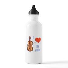 I Love My Viola Water Bottle