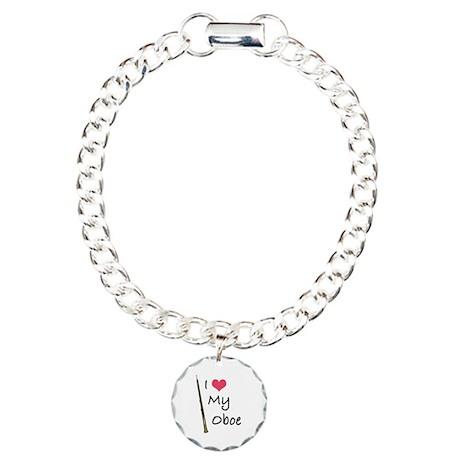 I Love My Oboe Charm Bracelet, One Charm