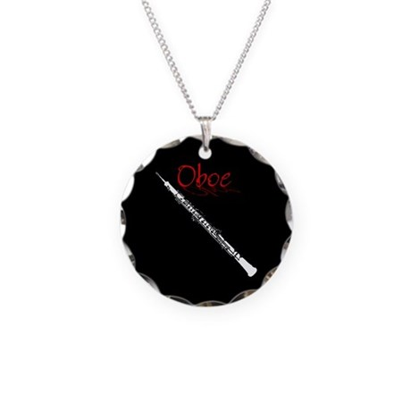 Oboe Necklace Circle Charm