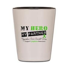 Lymphoma Hero Partner Shot Glass