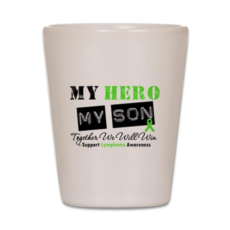 Lymphoma Hero Son-in-Law Shot Glass