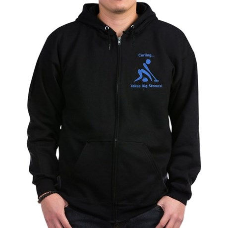 Curling Takes Big Stones! Zip Hoodie (dark)