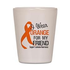 I Wear Orange Ribbon Shot Glass