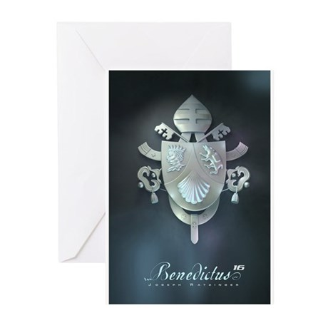 Silver Benedict Coat of Arms : Greeting Cards (Pac