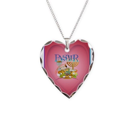 Passover Seder Necklace Heart Charm