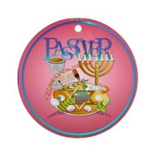 Passover Seder Ornament (Round)