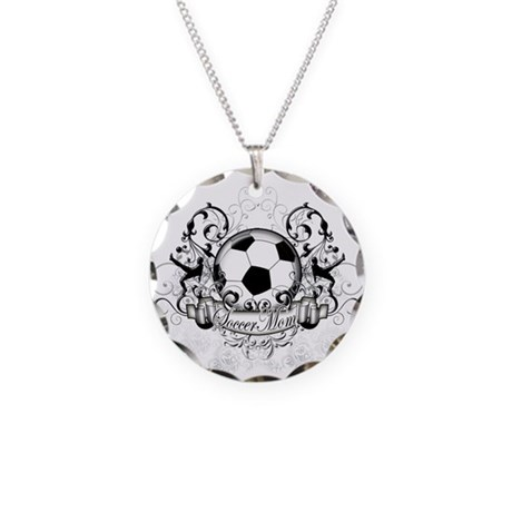Soccer Mom Necklace Circle Charm