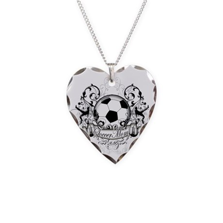 Soccer Mom Necklace Heart Charm