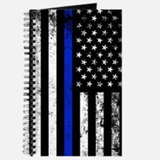 Vertical distressed police flag Journal