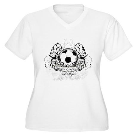 Soccer Grandma Women's Plus Size V-Neck T-Shirt