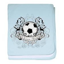 Soccer Aunt baby blanket