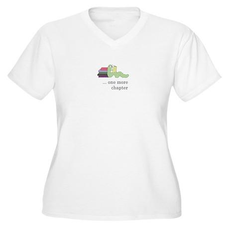 Books 4 life! Women's Plus Size V-Neck T-Shirt