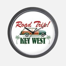 Road Trip! - Key West Wall Clock