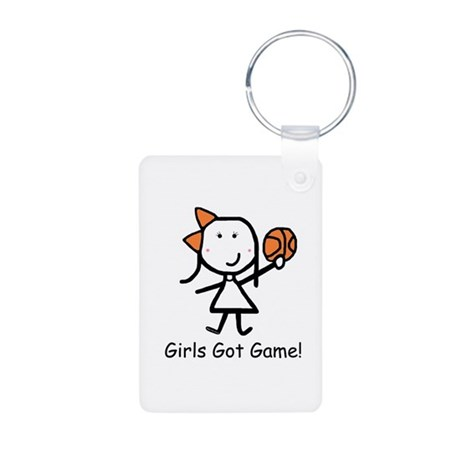 Girls Got Game Aluminum Photo Keychain