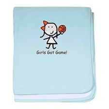 Girls Got Game baby blanket